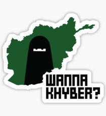 Wanna Khyber? Sticker