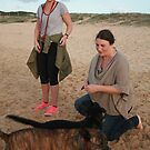 9. Delia & Kelsey with Labrador & Kelpie Cross by Cathie Brooker