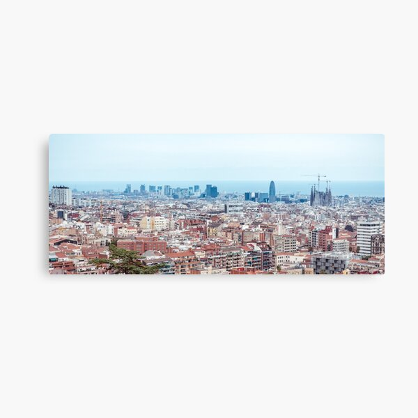 Barcelona cityline Canvas Print