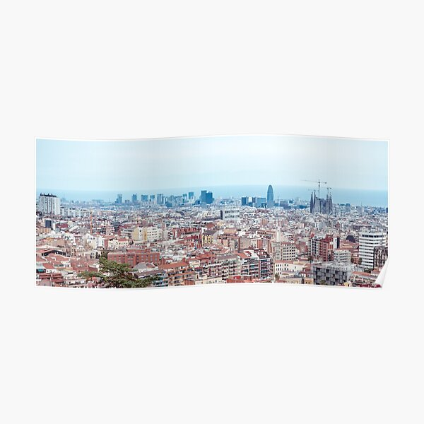 Barcelona cityline Poster