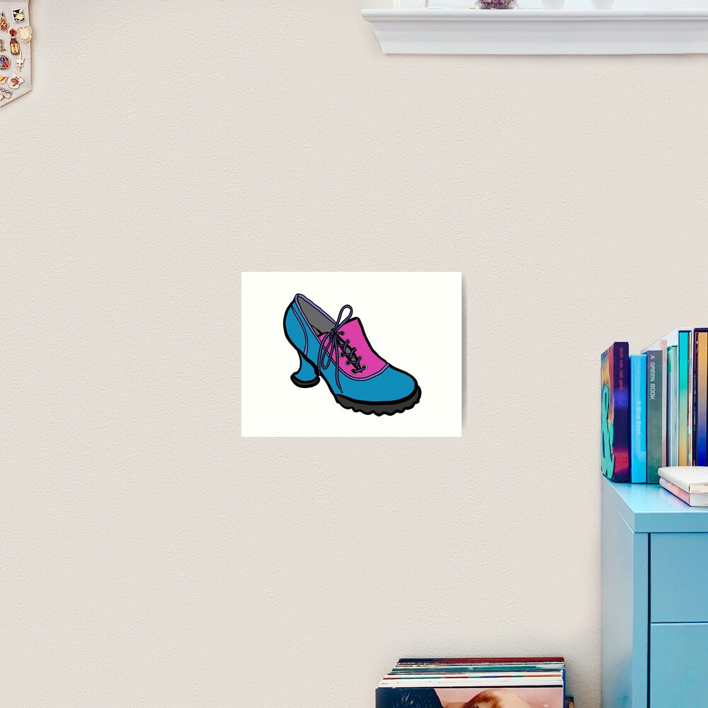 Fluevog Bees Knees Blue-Pink Art Print