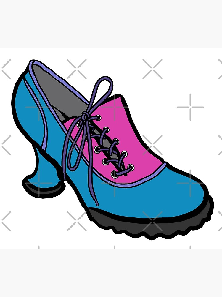 Fluevog Bees Knees Blue-Pink by annembray