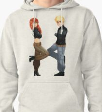 Basic Average Girl and Boy Pullover Hoodie