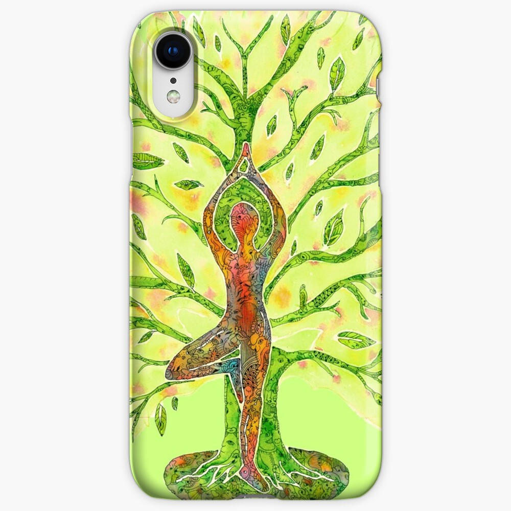 Yoga - Tree Pose iPhone Cases & Covers