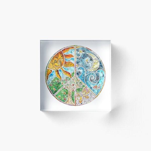 Peace Acrylic Block