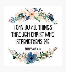 Philipper 4:13 Fotodruck