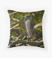 A Tri-Color Heron Throw Pillow