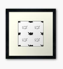 Simple Sharks Framed Print