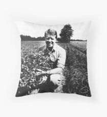 Jimmy Carter Peanut Farmer  Throw Pillow