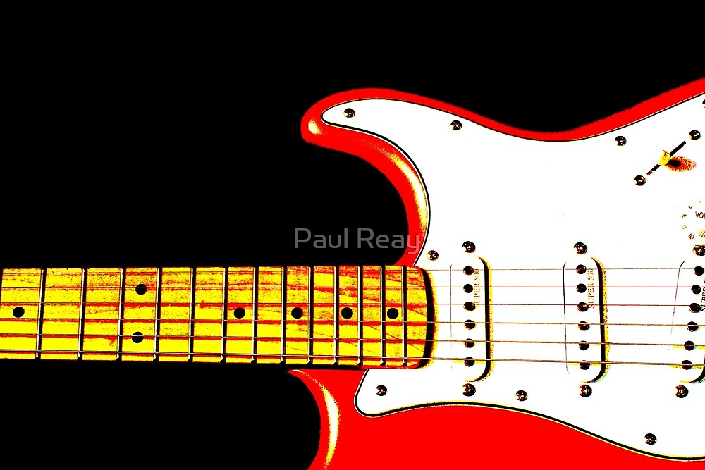 My Red Guitar 5 by Paul Reay