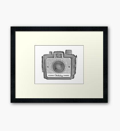 Brownie Holiday Camera Framed Print