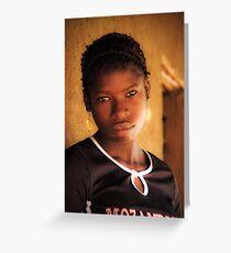 Young Mozambican Yao Woman, Meponda Greeting Card