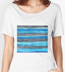 Watercolor Stripes Women's Relaxed Fit T-Shirt