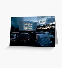 Drive-In Movie Theater (Wellfleet, Cape Cod) Greeting Card