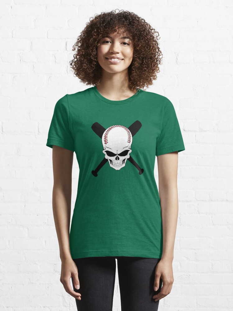 Alternate view of Baseball Jolly Roger Essential T-Shirt
