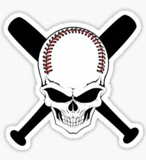 Baseball Jolly Roger Sticker