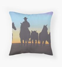 Mustering Throw Pillow