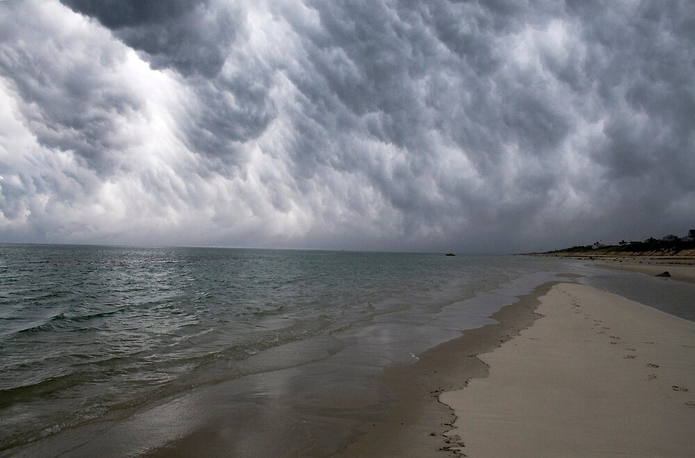 Thunderstorm over Cape Cod Bay (Dennis, MA) by Christopher Seufert