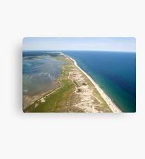 Nauset Beach Aerial Photo (Orleans, Cape Cod) Canvas Print