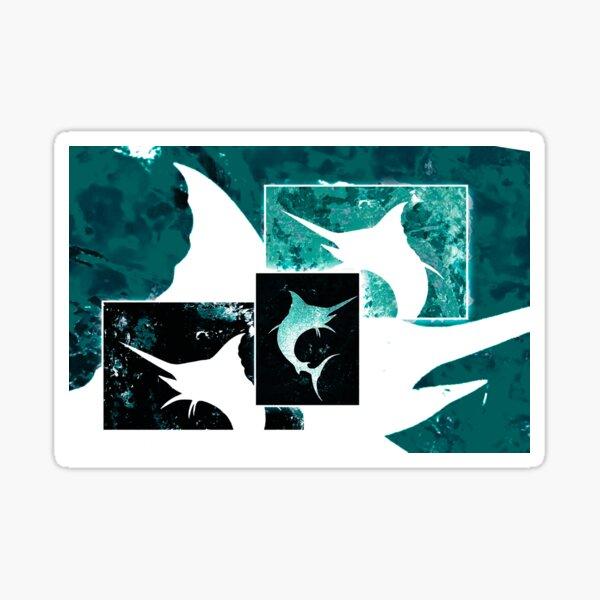Salty Marlins Sticker