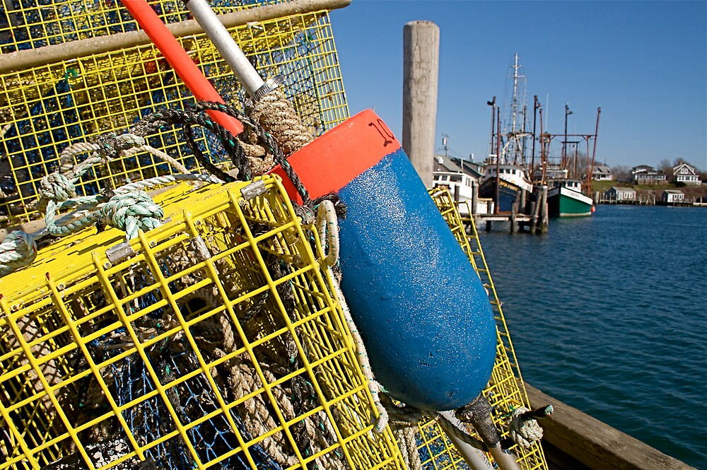 Menemsha Harbor Lobster Trap, Martha's Vineyard by Christopher Seufert