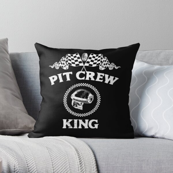 Pit Crew for Hosting Race Car Parties Parents Bday Throw Pillow