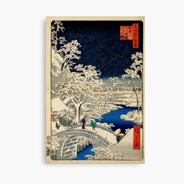 Ukiyo-e, Ando Hiroshige Yuhi Hill et le Drum Bridge à Meguro (1856-1858) Impression sur toile