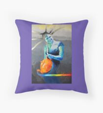 Heal with Rainbow Tea (self portrait) Floor Pillow