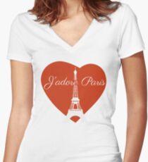 J'adore Paris Women's Fitted V-Neck T-Shirt