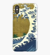Japanese surf wave iPhone Case