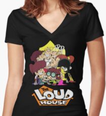 The Loud House Women's Fitted V-Neck T-Shirt