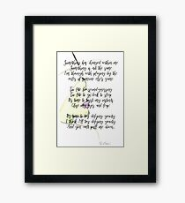Elphaba, Defying Gravity, Wicked Framed Print