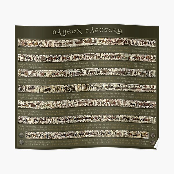 Bayeux Tapestry-Full scenes with story Poster