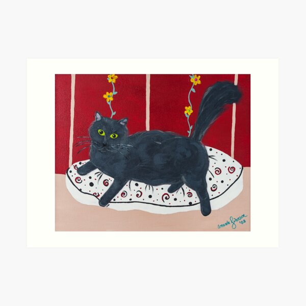 Whimsical Cat - Lady Kitty Art Print