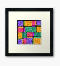 Blocks Party Framed Print