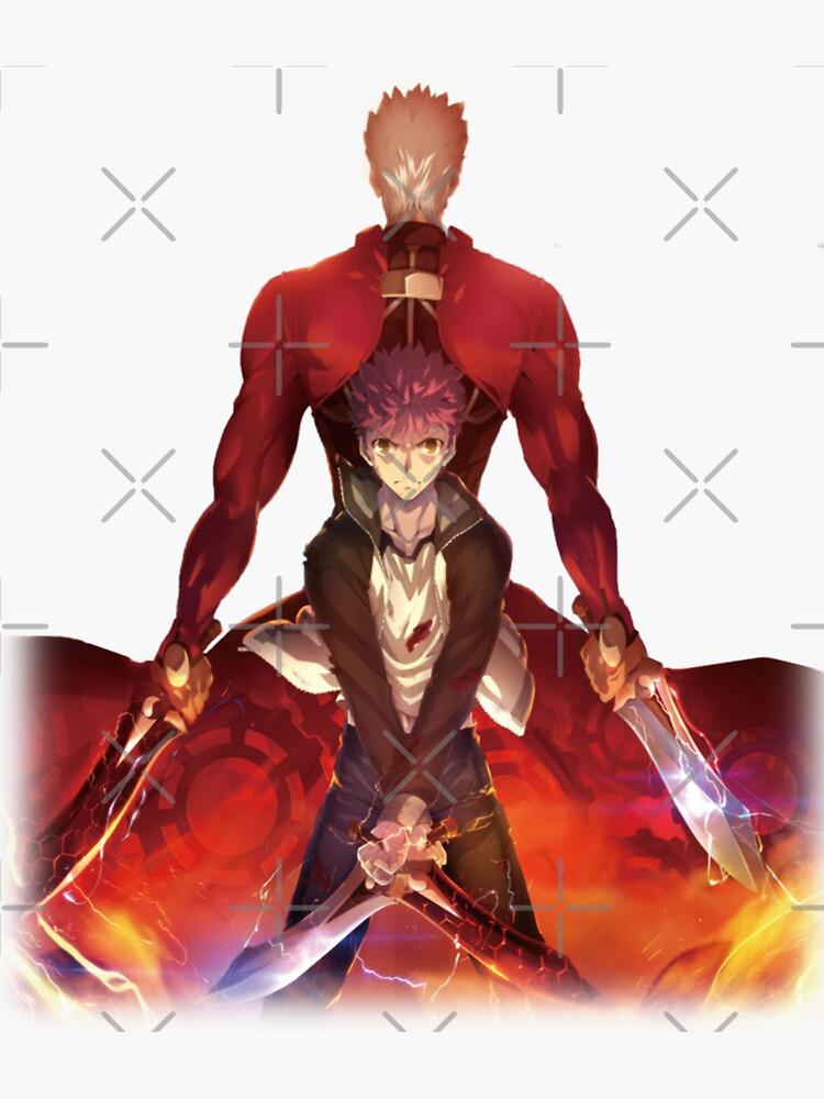 archer shirou emiya sticker by xemiya redbubble