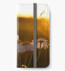 White Flowers and sunset iPhone Wallet/Case/Skin