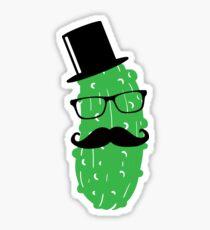Mr. Cucumber Cucumber Cucumbers Beard Mustaches Mustaches Sticker