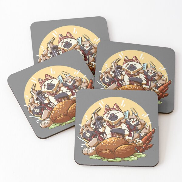 Meowscular Chef Bae Coasters (Set of 4)
