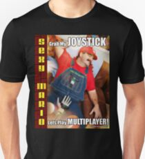 SexyMario MEME - Grab My Joystick, Lets Play Multiplayer! 1 Unisex T-Shirt