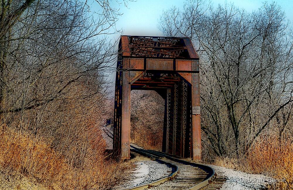 Intervale Train Bridge by Deborah  Benoit