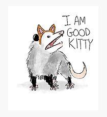 """I AM GOOD KITTY"" Design Photographic Print"