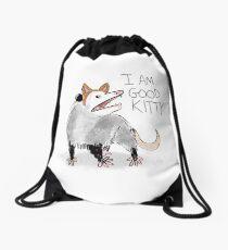 """I AM GOOD KITTY"" Design Drawstring Bag"