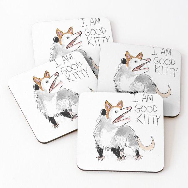 """I AM GOOD KITTY"" Design Coasters (Set of 4)"