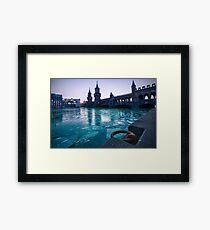 Frozen River Spree Framed Print
