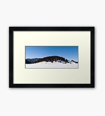 Snowshoeing in the Caldera Framed Print