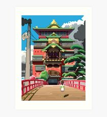 Spirited Away 8bit Art Print