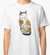 Cat in Tiger Flower Tattoo Classic T-Shirt