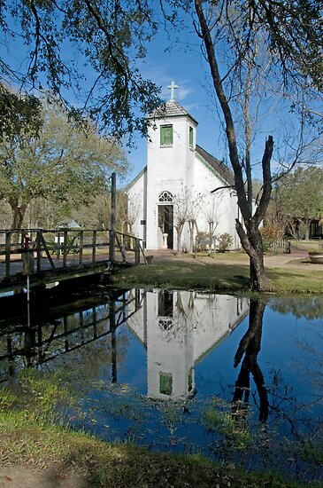 New Hope Chapel at Acadian Village by Bonnie T.  Barry