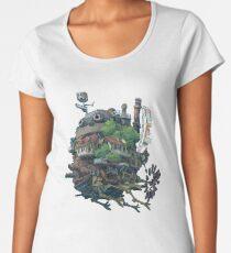 8bit Howl's Moving Castle Women's Premium T-Shirt